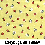 lady bugs on yellow