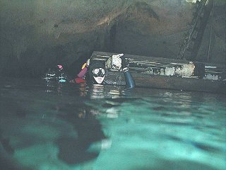 Exploration platform at cenote off of main line